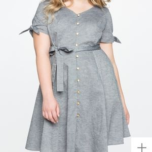 Buttoned down flare dress